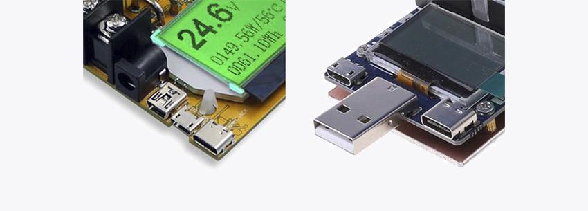 Разъёмы для подключения источников питания к USB нагрузкам