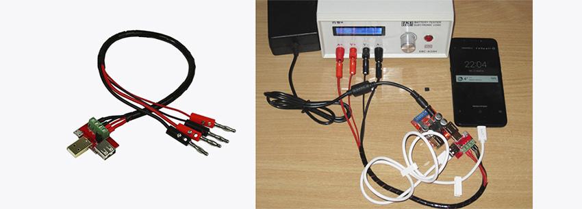 Четырехпроводной способ подключения электронной USB нагрузки