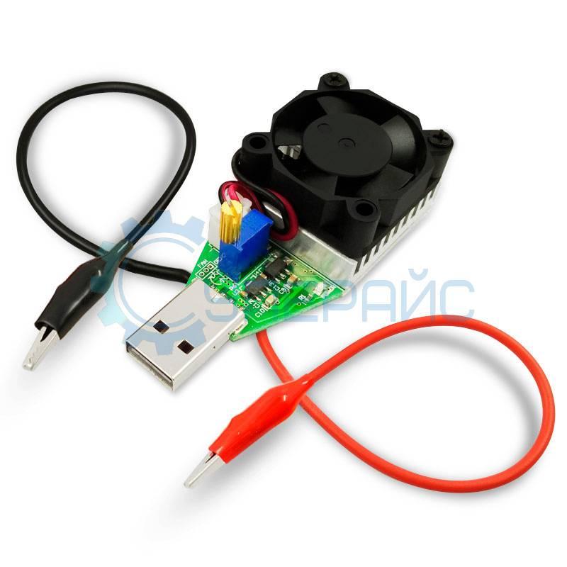 USB нагрузка с системой охлаждения JUWEI 3 А 15 Вт